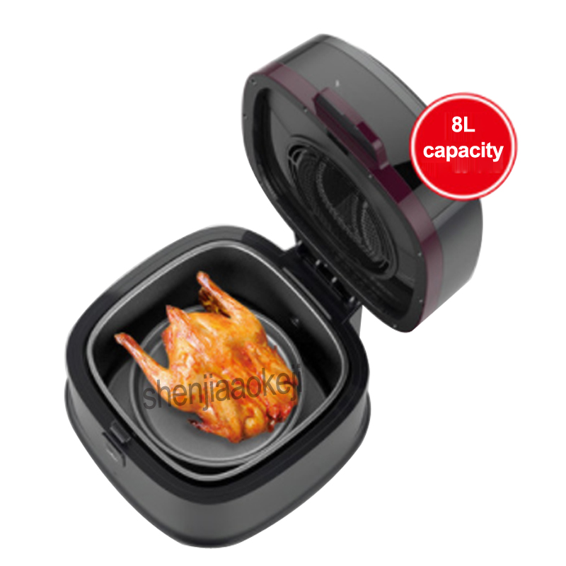 EW Household Intelligent Air Fryer 8L large capacity Non-oil Fries/ chicken /shrimp ect. ultifunction electric Oven 220v 1200W