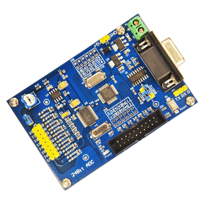 ADS1256 24 bit AD high-precision acquisition module, 24 bit ADC, STM32F103C8T6, AD module ad7124 ad7124 module 24 bit adc ad module high precision adc acquisition data acquisition card