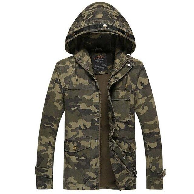 Мужская осень зима военный камуфляж куртка С Капюшоном мужская повседневная куртки Большой Размер Теплая Куртка Человек Ветрозащитные Куртки Мужчин