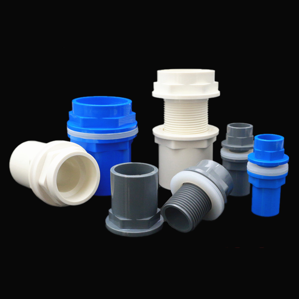 I.D 20/25/32/40/50mm PVC Pipe Connectors Thicken Fish Tank Drain Pipe Joints Garden Irrigation Water Supply Tube Drainage Parts