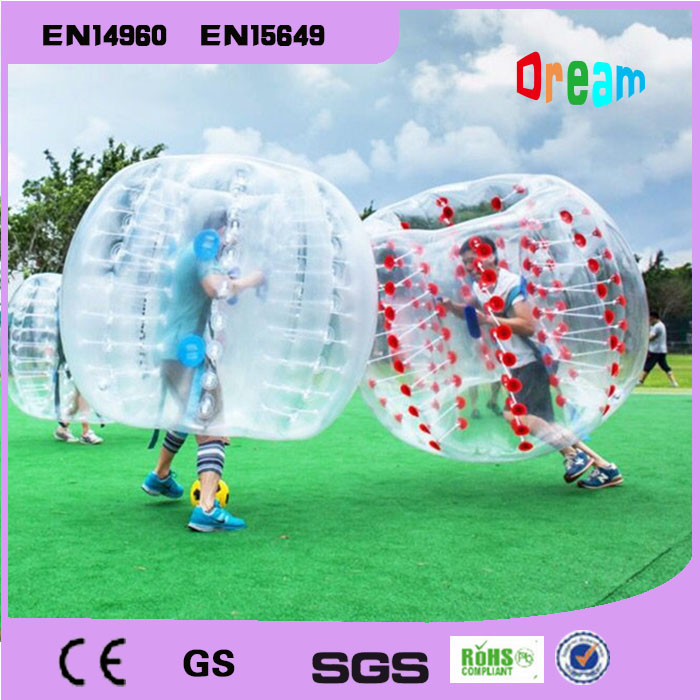 Gratis forsendelse 0.8mm PVC 1.5m Air Bumper Ball Body Zorb Ball Bubble fodbold Bubble Soccer Zorb Ball for voksne