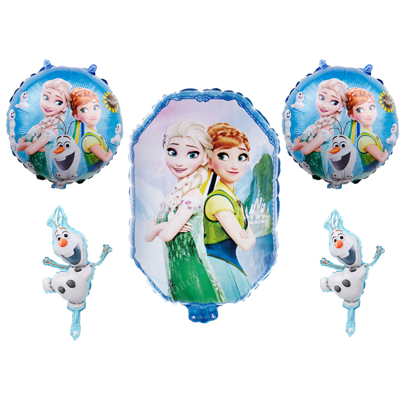 5pcs Disney elsa frozen <font><b>princess</b></font> birthday <font><b>party</b></font> balloons Baby shower girl foil ballons birthday <font><b>party</b></font> decorations kids toy globo image