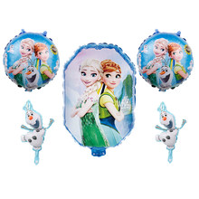 5pcs Disney elsa frozen princess birthday party balloons Baby shower girl foil ballons birthday party decorations kids toy globo(China)
