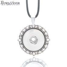 Hot Fashion Interchangeable Metal Leaves Ginger Necklace 009 Fit 18mm Snap Button Pendant Charm Jewelry For Women Gift