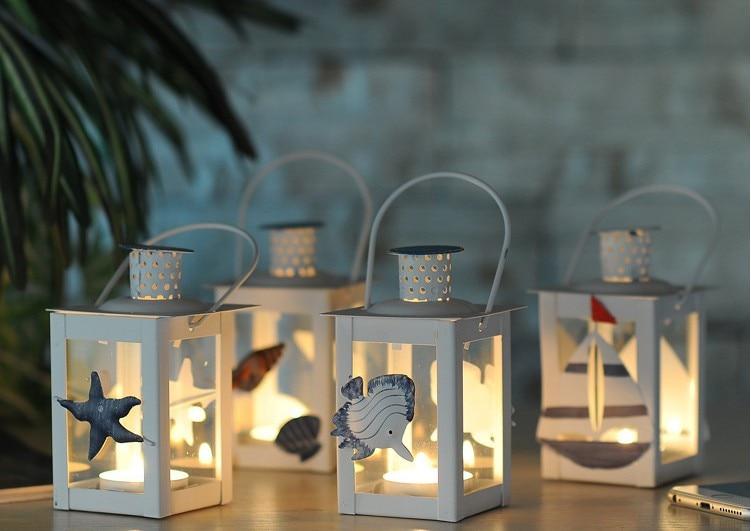 Portacandele Da Giardino : Bianco portacandele in metallo lanterna in ferro matrimonio