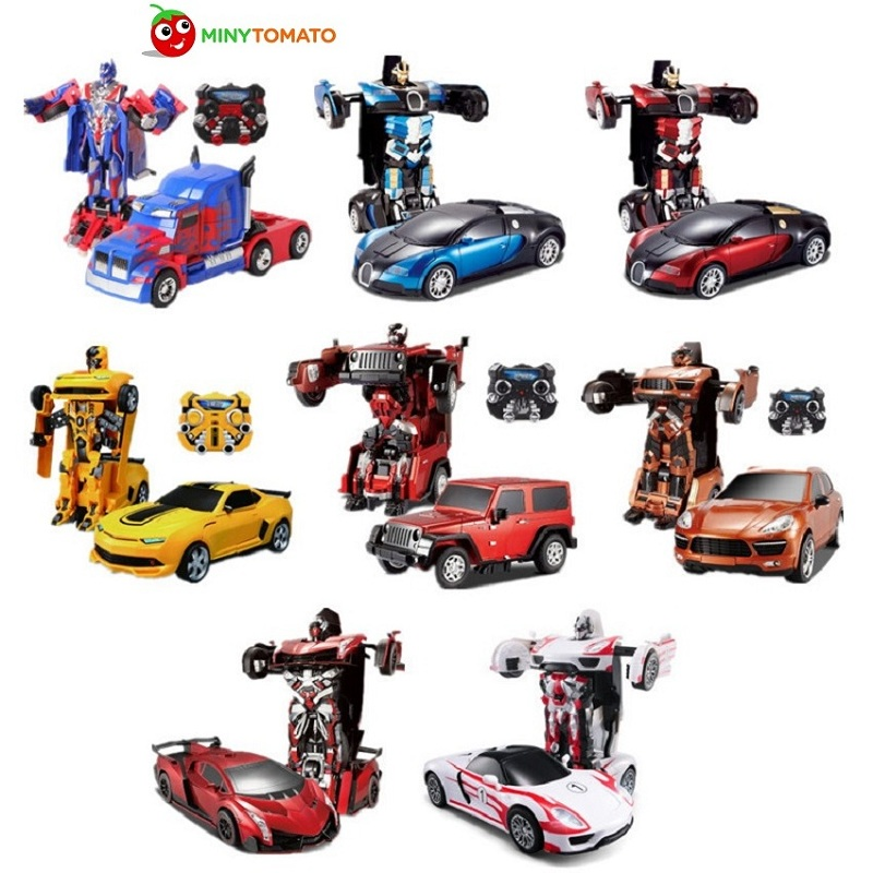 цена на Free Shipping Luxury Sportscar Models Deformation Robot Transformation Remote Control RC Car Toys Kids Gift