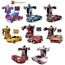 цена на Free Shipping Luxury Sportscar Models Deformation Robot Transformation Remote Control RC Car Toys Kids Gift