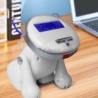 Cute Four Colours Fahion Cartoon Dog Alarm Clocks Modern Digital Alarm Clocks Thermometer LED Electronic Bedroom