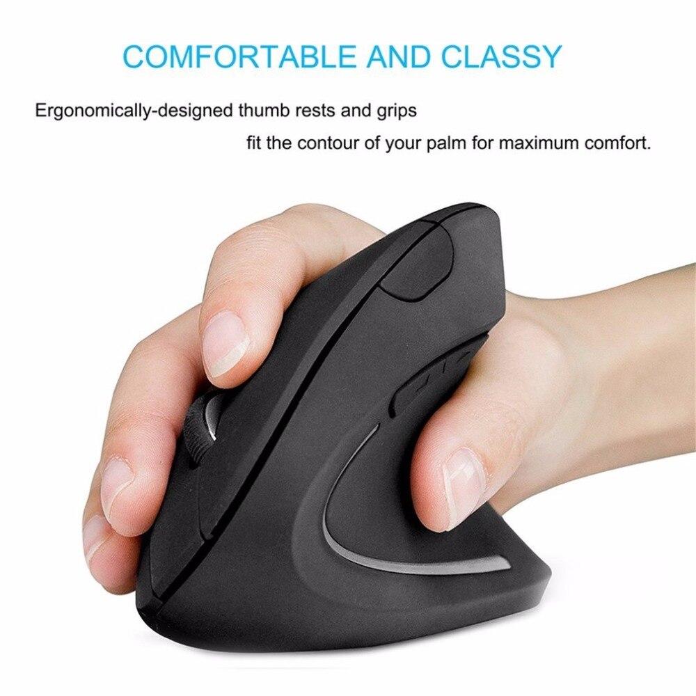 Souris verticale ergonomique sans fil souris 2.4G 6 boutons souris 1000 DPI ordinateur USB souris optique pour PC ordinateur portable bureau