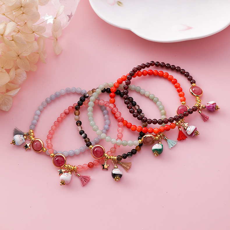 handmade lucky cat fashion bracelet gift chain 4