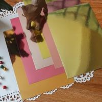 A4 золотой и розовый высота оценка зеркальный блеск для губ ремесло карточная бумага вечерние подарок карточное украшение бумага для скрапб...