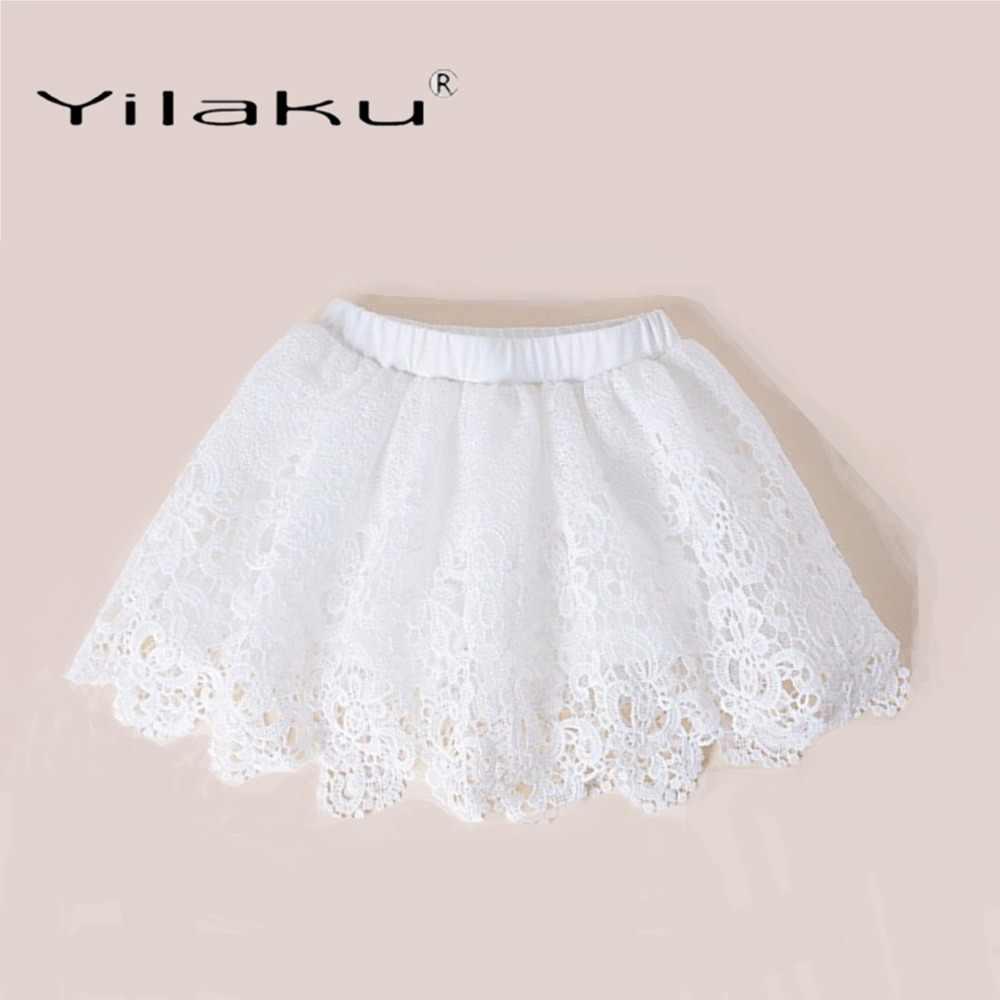 1390ca7aa Yilaku faldas para niñas falda de encaje de moda para niñas falda tutú de  verano ropa de niños plisada faldas para niñas y bebés CI057