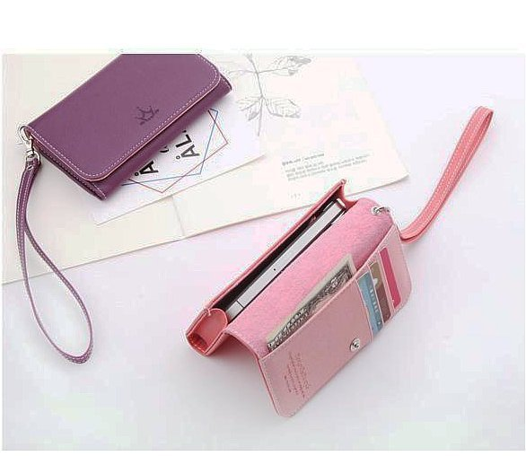 2012 New Arrival Korea ardium wallet case for iphone 4 mobile phone case card holder wallets carbon fiber handbag for I9100