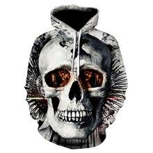 Skull headr Men Hoodies Sweatshirts 3D Printed Funny Hip HOP