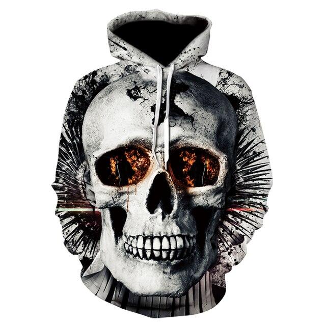 Череп headr для мужчин толстовки кофты 3D печатных забавные хип хоп Новинка уличная одежда с капюшоном осенние куртки тренировочные костюмы мужские