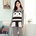 Nueva otoño invierno mujer ropa de dormir de las muchachas de gran tamaño pijama mujeres de manga larga pijama envío gratis G0496e