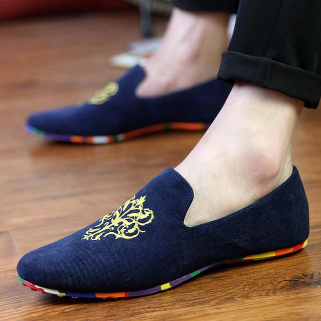 c63ef9049c662 Hot Sale Velvet Loafers Men Shoes Men's Flats Male Slip-On Driving Shoes  Large Size
