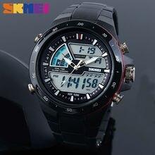 Для мужчин спортивные часы модные повседневное для мужчин смотреть цифровой аналоговые часы 30 м водонепрони