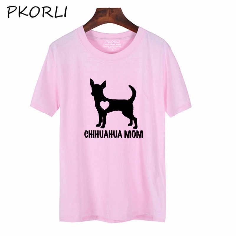 2c24f0c0b52 Pkorli Harajuku Chihuahua Mom T Shirt Women Casual Dog Mom T-Shirt For  Girls Cute