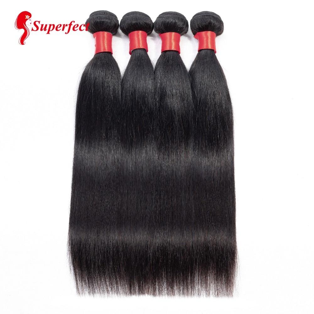 Malaysian Straight Hair Weave Bundles 100 Human Hair Extensions Natural Color 8 26inch 4 Bundles Deal