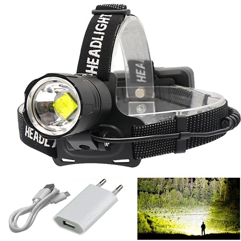 8000lm 2019 New Fishing Powerful Led Headlamp XHP70.2 Usb Headlight Xhp70 Zoom Head Lamp Flashlight Torch Lantern Light 18650