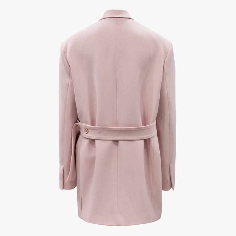 Taille Fente Féminin Outwear Femmes Plus Lâche Manches Jupettes Rose À Costume La Automne Occasionnel Latérale Retour Longues Long Blazer Manteau wgSnH4x0Rq