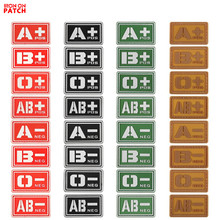 Glowing PVC Badge Tactics A + / B +/-O + / AB + /A-/B-/O-/AB- Type Blood Type Chapter Supplement Military Badge Rubber Jacket eat right 4 your type personalized cookbook type ab