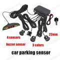 sound alarm indicator 3 colours choose 22mm car parking sensor sysytem display 4 sensors Backup Radar Monitor System