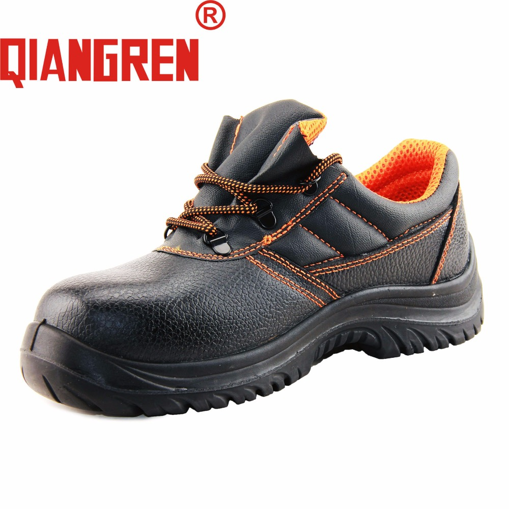 QIANGREN мужские весенне осенние кожаные рабочие ботинки в Военном Стиле, вулканизированные водонепроницаемые черные защитные ботинки со стал