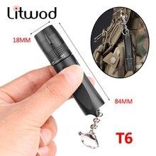 Litwod CREE XM-L T6 1*14500/1*AA Led Flashlight Camping Lamp