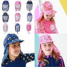 Летняя пляжная кепка для плавания с героями мультфильмов для маленьких детей, Солнцезащитная Водонепроницаемая Кепка для мальчиков и девочек, детская шапка