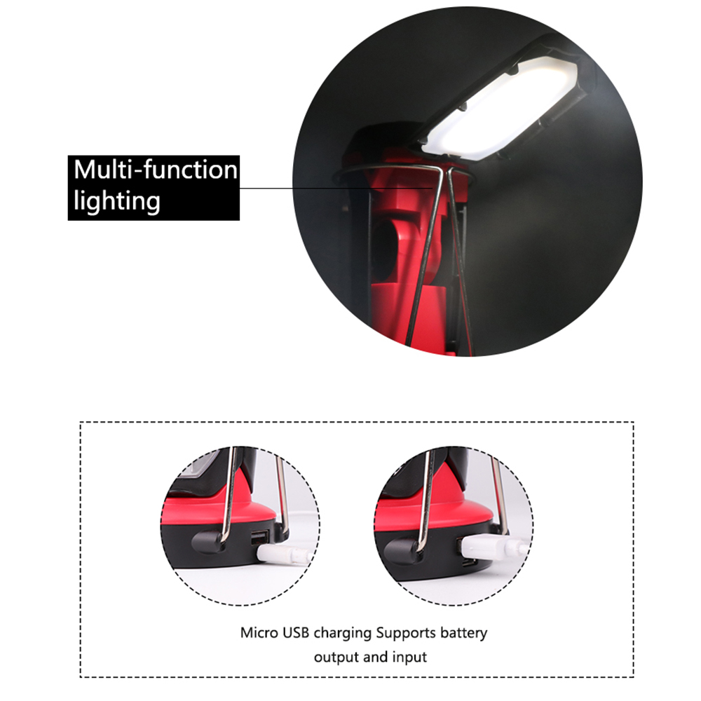 lowest price Dropshipping COB Work light LED Flashlight Camping Working Emergency Multifunction USB Rechargeable light Portable lantern torch