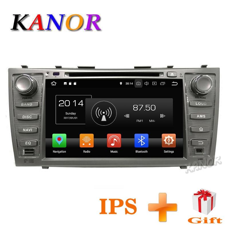 KANOR IPS Écran Tactile Android 8.0 4 + 32G 2din dvd de voiture GPS Navi Pour Toyota Camry 2007 2008 2009 2010 2011 Avec Autoradio 2 din