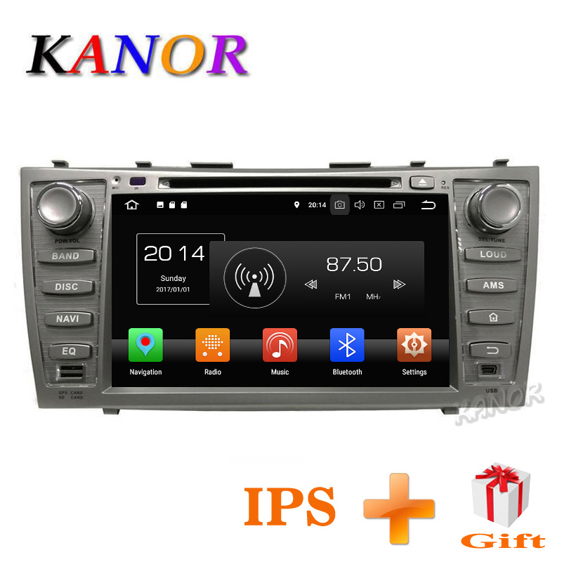 KANOR IPS Touchscreen Android 8.0 4 + 32g 2din Auto DVD GPS Navi Per Toyota Camry 2007 2008 2009 2010 2011 Con Autoradio 2 din