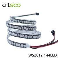 DC5V Taśmy LED pikseli 5050 Pikseli WS2812B WS2812 RGB Cyfrowe Taśmy LED RGB 144 Diod/M IP20 IP67 Wodoodporna