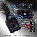 Transmissor FM sem fio Modulador MP3 Player com USB Carregador de Carro e Kit Carro de Controle Remoto Preto