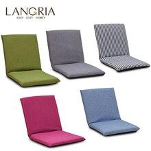 Складное напольное кресло, регулируемый расслабляющий ленивый диван, подушка для сидения, шезлонг для одного человека, складная кровать, маленький диван, спинка стула, окно
