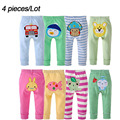 П . п . брюки 4 шт. много детские брюки ребенком носить подгузники Busha мультфильм мальчик девочка младенец малышей одежда хлопок брюки