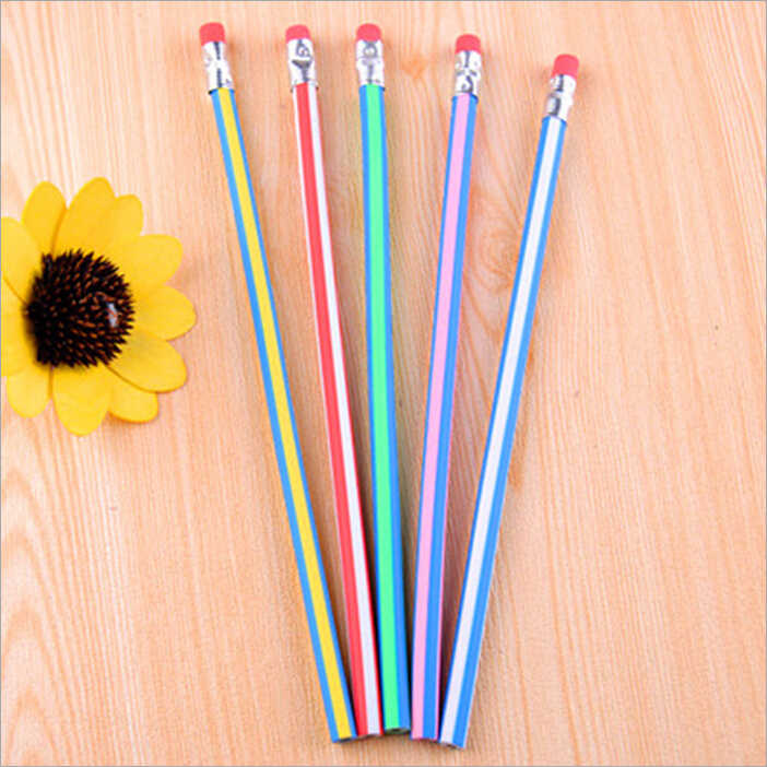 Ellen Brook 1 Stück Koreanische Briefpapier Nette Candy Farbe Weiche Flexible Standard Bleistifte Schule Mode Büro Liefert
