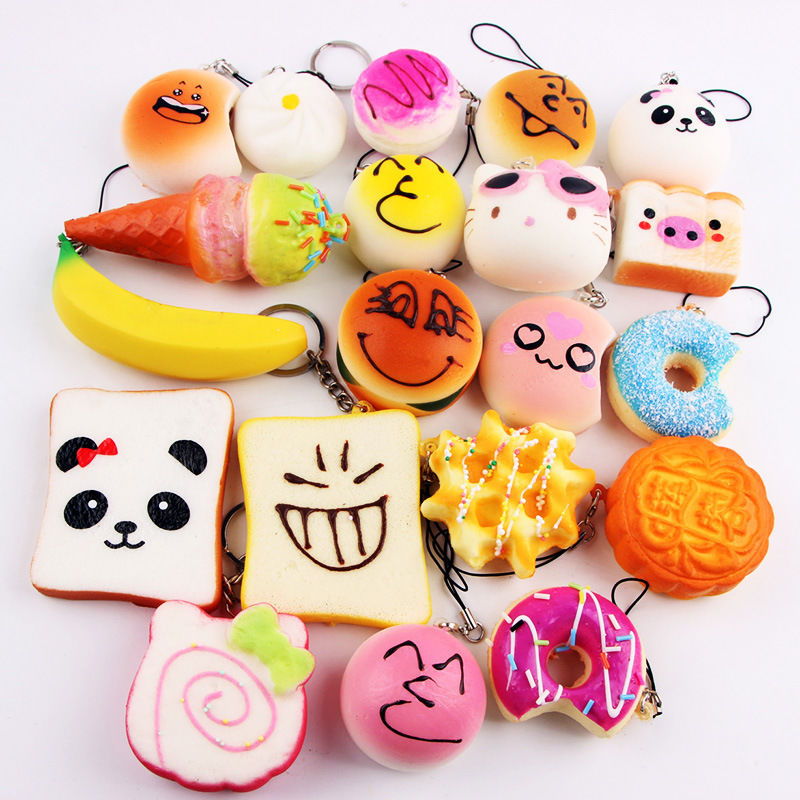 Mobile Phone Straps Enthusiastic 10pcs/lot Diy Kawaii Squishy Jumbo Panda Baby Slow Rising Squishy Charm Soft Bread/cake/ice Cream/banana Mobile Phone Strap Kids Mobile Phone Accessories