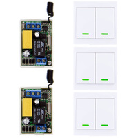 Mini Size 220V 1CH 1CH 10A Wireless Remote Control Switch Receiver 2CH Wall Panel Remote Transmitter