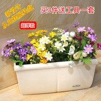 Flower Pot, Plastic Rectangle, Flower Plate, Wall Hung Large Balcony, Vegetable Pot.