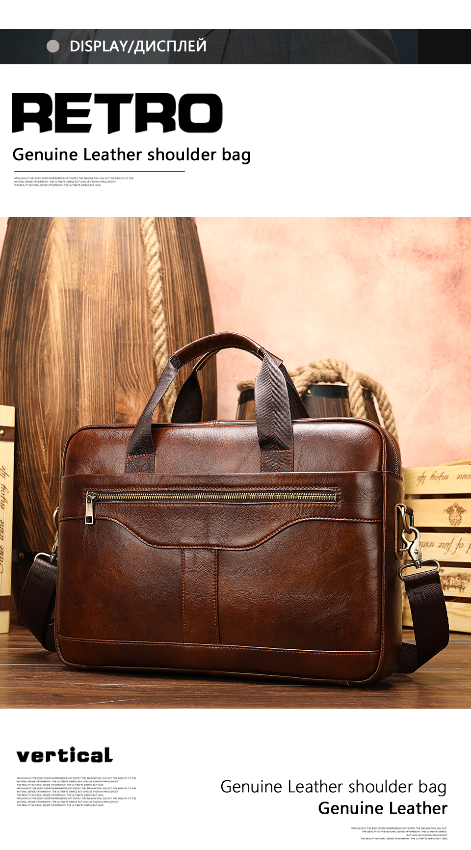 5 Bag Men's Genuine Leather Briefcase Male Handbags Lawyer Man Laptop Bag Leather for Men Messenger Bags Men's Briefcases
