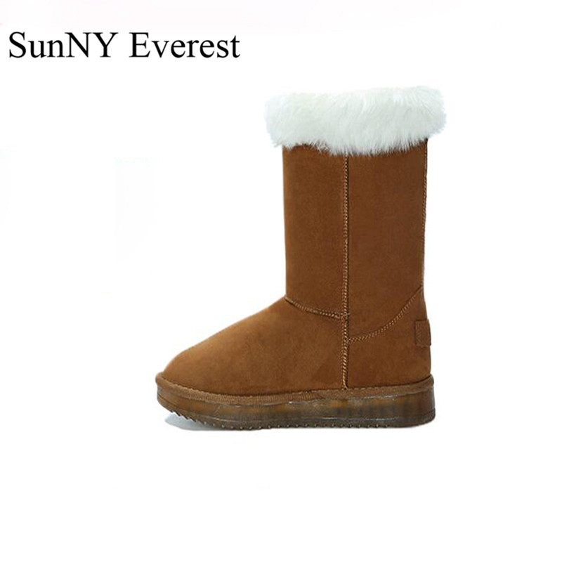 SunNY Everest shoes woman winter plush ankle slip-on snow boots round toe led fashion boots 4 colours warm TPR sole 34-41 us10 sgesvier warm snow boots ankle boots high heel wedge boots retro round toe slip on casual shoes winter shoes for women ox148