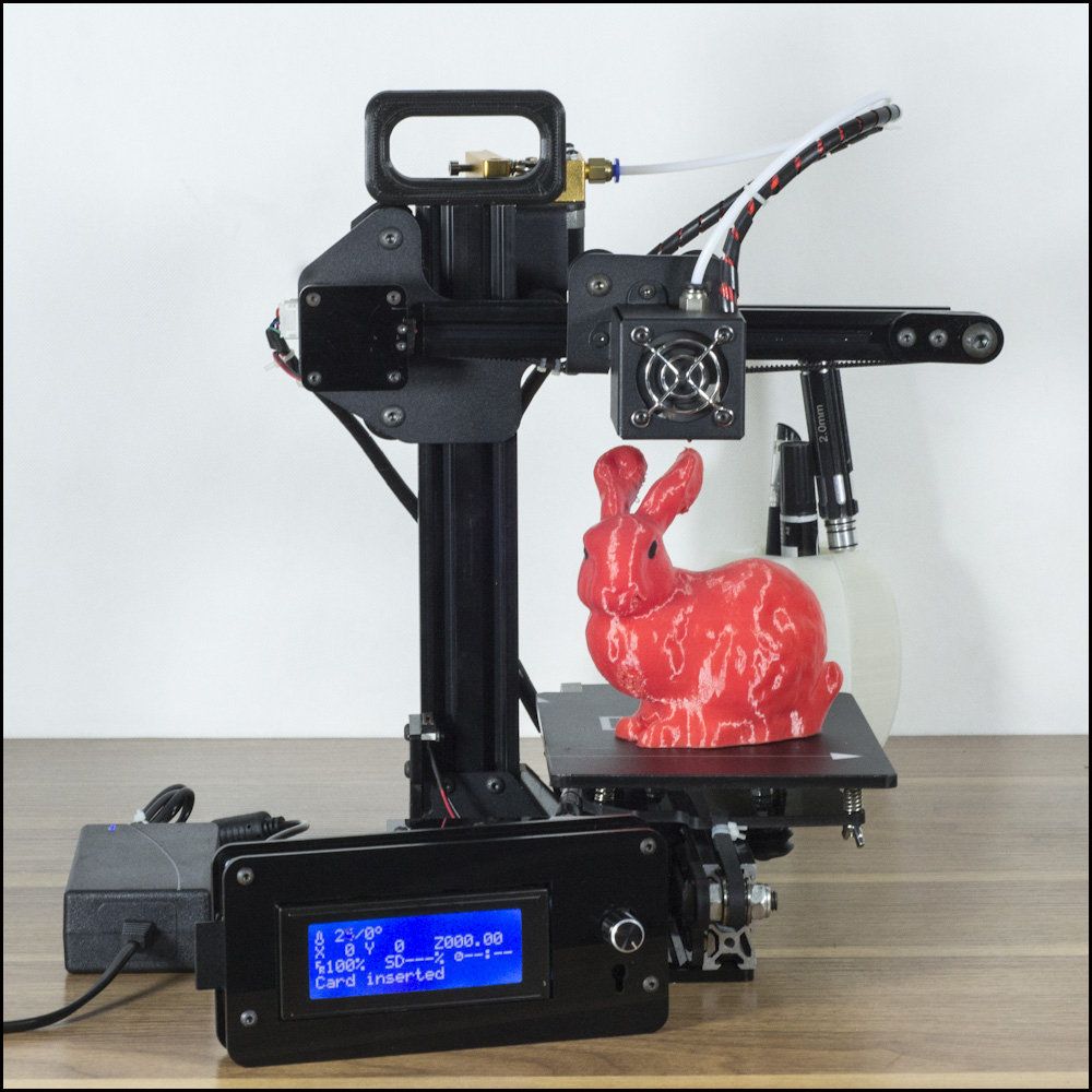 DMS DP2 Portable lightweight 3D printer kit with high quality remote feeding metal extruder stable printing