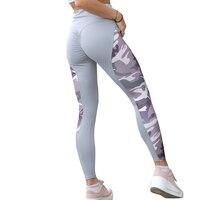 NORMOV повседневные женские Леггинсы Спортивные штаны с высокой талией эластичные пуш-ап камуфляжные принты пэчворк длиной до лодыжки спанде...