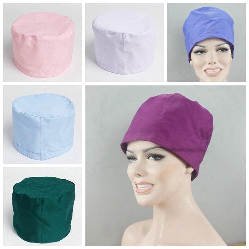 32f4cde7ef1 1Pcs Men Women Scrub Hat Surgical Cap Cotton Nurse Doctor Dome Hygiene Cap  Textile Beanie Doctor Cap Hat DAJ9189