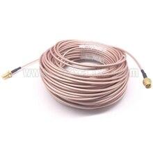 JX антенный удлинитель радиочастотный коаксиальный кабель SMA штекер SMA женский RG316 кабель 10 м для 3g 4 г wifi антенна SMA Разъем косичка