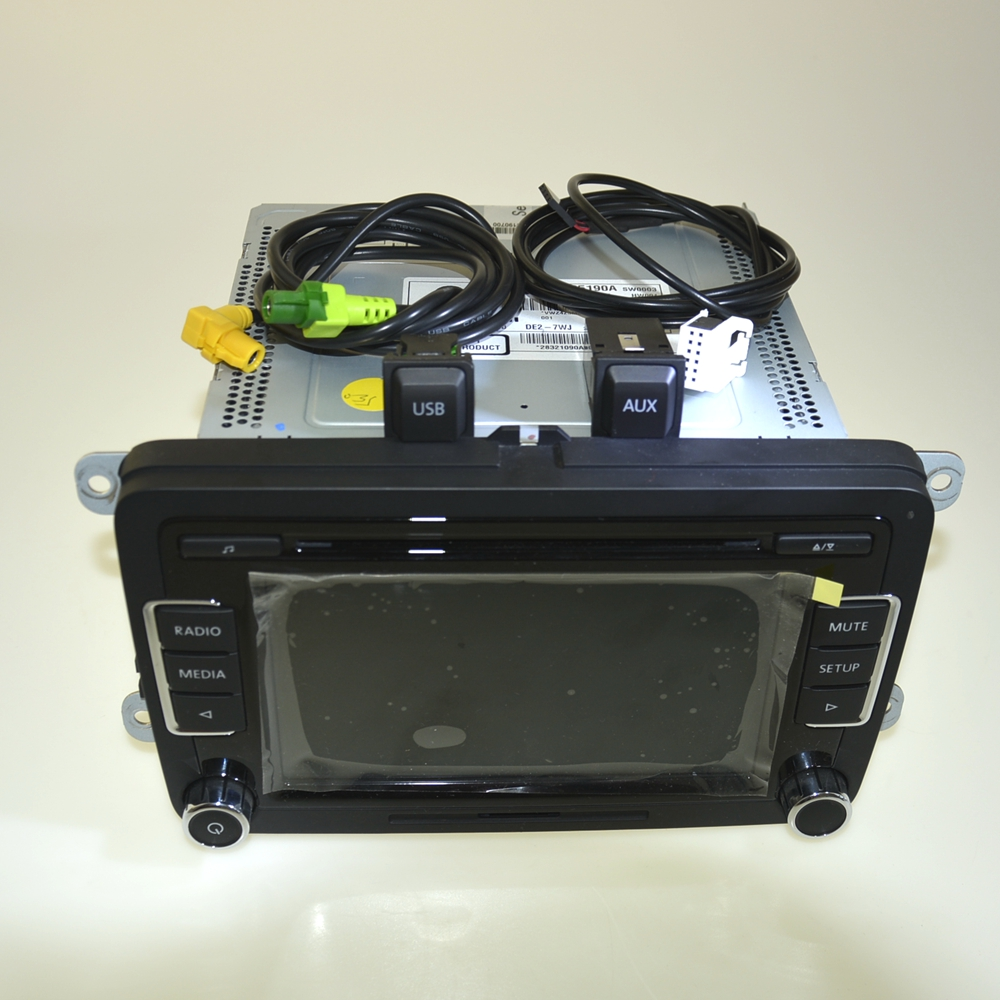 OEM RCD510 Car CD Player USB & AUX Plug & Cables & Code CD