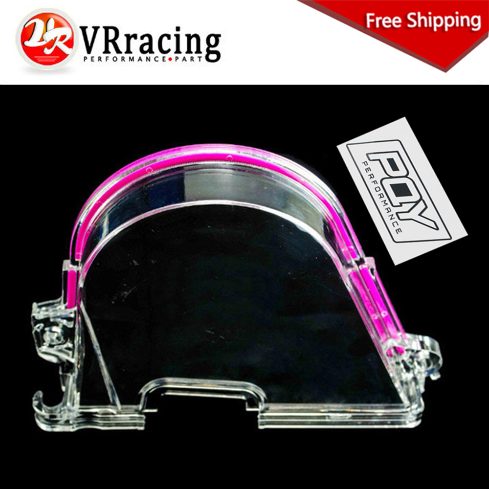 Hot Sale Free Shipping Timing Belt Cover Clear Cam Gear Turbo Pulley With Pqy Sticker For Honda 96 00 Ek Vr6337